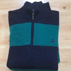 Brooks brothers 346 merino wool pulled over